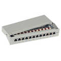 OP=OP Patch panel Cat.6, 12 ports, desk/wall mountable, light grey, RAL7035