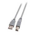 USB2.0 Connection A-B, male/male, grey 2m