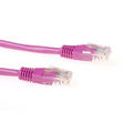 Cat5e UTP patchkabel roze  15m